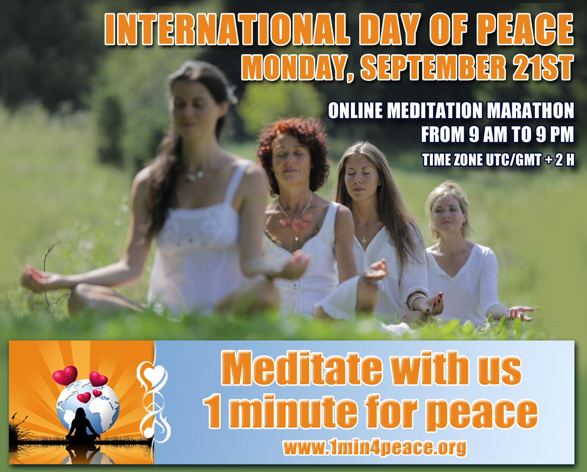 ONLINE MEDITATION MARATHON FROM 9am To 9pm UTC GMT 2