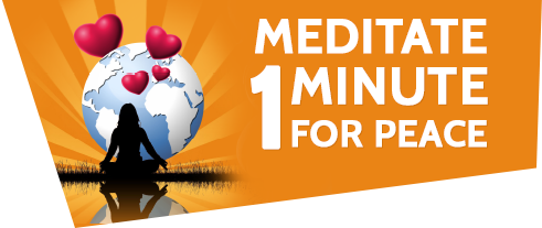 MEDITATE 1 MINUTE FOR PEACE